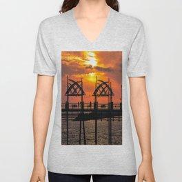 California Dreaming - Redondo Beach Pier Unisex V-Neck