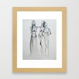Hair skirt Framed Art Print