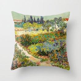Garden at Arles by Vincent van Gogh, 1888 Throw Pillow