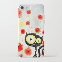 poppies iPhone & iPod Cases featuring Poppies  by Katja Main