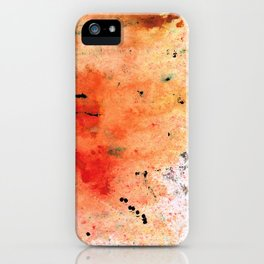 Red Abstract Art - Taking Chances - By Sharon Cummings iPhone Case