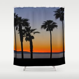 HB Sunsets  11/23/15 Shower Curtain