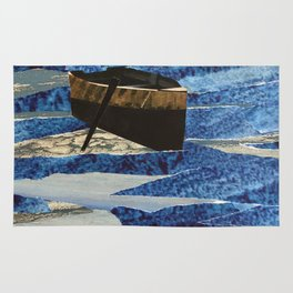 Boat on the Water Collage Rug