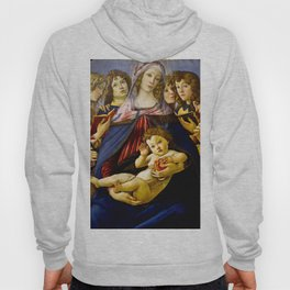 "Sandro Botticelli ""Madonna of the Pomegranate (Madonna della Melagrana)"" Hoody"