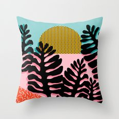 B.F.F. - throwback 80s style memphis design neon art print hipster brooklyn palm springs resort patt Throw Pillow