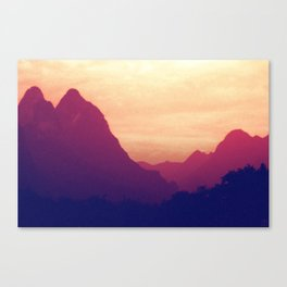 Mountain Twins Canvas Print