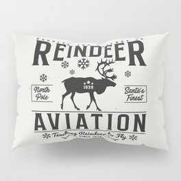 Reindeer Aviation - Christmas Pillow Sham