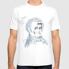 Franz Schubert Mens Fitted Tee White MEDIUM