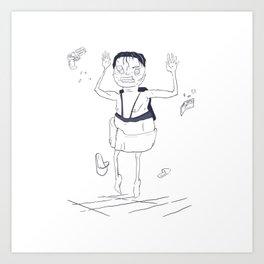 Getting retired in zero gravity Art Print