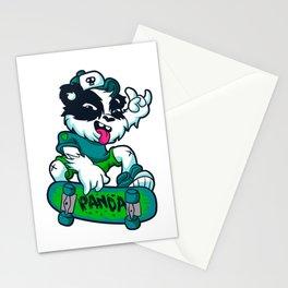 Skater panda Stationery Cards