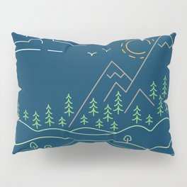 Outdoor solitude - line art Pillow Sham