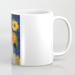 Van Gogh, Five Sunflowers 1888 Artwork Reproduction, Posters, Tshirts, Prints, Bags, Men, Women, Kid Coffee Mug