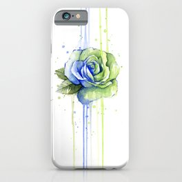 Flower Rose Watercolor Painting 12th Man Art iPhone Case
