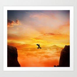 sunset balance Art Print