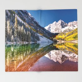 MAROON BELLS Throw Blanket