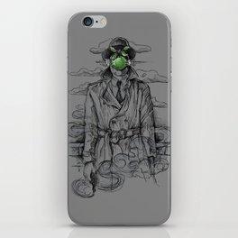 Magritte Noir iPhone Skin