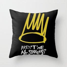 Born sinner Throw Pillow