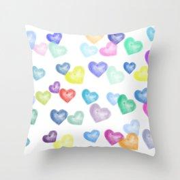 Hearts Aflutter Throw Pillow