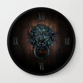 Vintage bronze lion door knocker Wall Clock