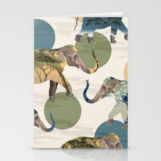 Elephant Polka Stationery Cards