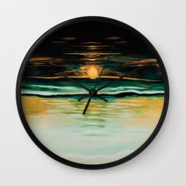 Bathing Sunset Wall Clock