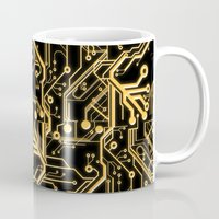 techno Mugs featuring Techno Organic  by Leigh Wortley
