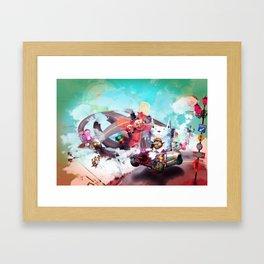 Wolf Racer Framed Art Print