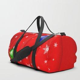 Christmas balls with background Duffle Bag