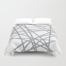 To The Edge Grey Duvet Cover
