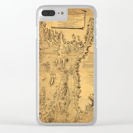 Map of Rhode Island 1777 Clear iPhone Case