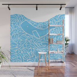 Whale and Waves Wall Mural