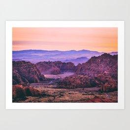 American Southwest Sunset Fine Art Print Art Print