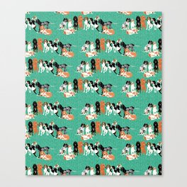 Coonhound row Canvas Print