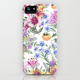 FLORAL WATERCOLOR 10 iPhone Case