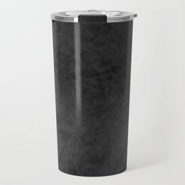 Black suede Travel Mug