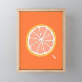 Grapefruit Slice Framed Mini Art Print