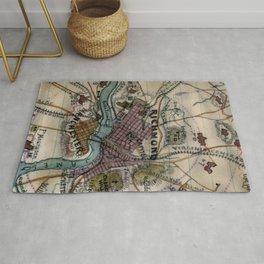 Vintage Richmond Virginia Civil War Map (1865) Rug