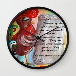 His Compassions are New Every Morning Wall Clock