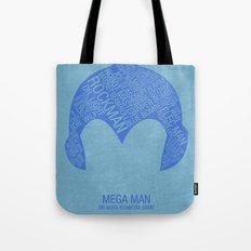 Mega Man Typography Tote Bag