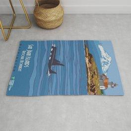 Vintage poster - San Juan Islands Rug