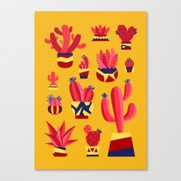 Afternoon Cacti Canvas Print