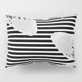 Monochrome stripes and lilies Pillow Sham
