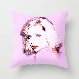 Debbie Harry - Blondie - Pop Art Throw Pillow