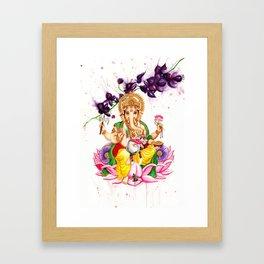 Ganesha and Candy Framed Art Print