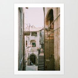 Italian Alley - Viterbo, Italy Art Print