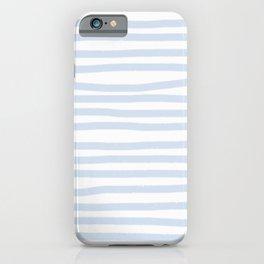 Light Blue Stripes Horizontal iPhone Case