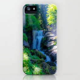 Waterfall in the woods iPhone Case