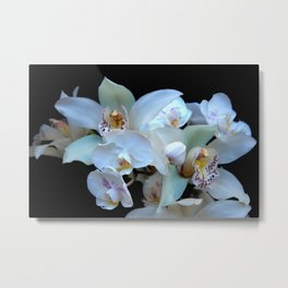 A White Orchid Wedding Metal Print
