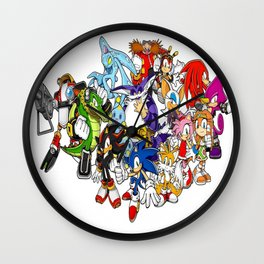 Sonic the hedgehog characters 2 Wall Clock