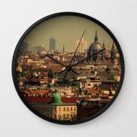 vienna Wall Clocks featuring Vienna 06 by MehrFarbeimLeben